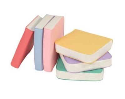 Book cushions - pastel